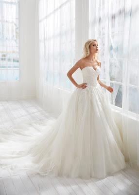 Randy Fenoli Strapless Ball Gown Tulle Bridal Dress