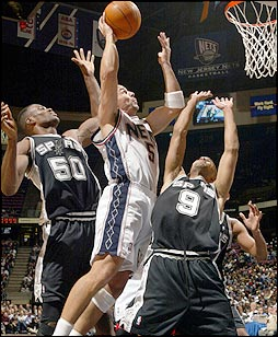 The stage was now set for a clash between the two teams to see who would  win the 2003 NBA Championship. f4d24c7d6