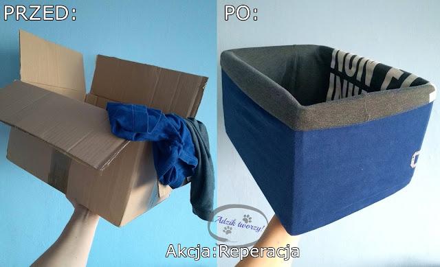 Akcja Reperacja u Adzika - DIY organizer z kartonu z recyklingu