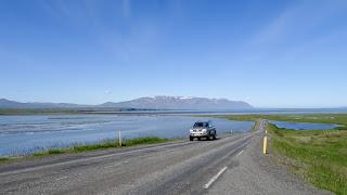 Driving in North in Sauðárkrókur