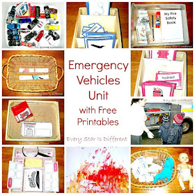 Emergency Vehicles Unit with Free Printables