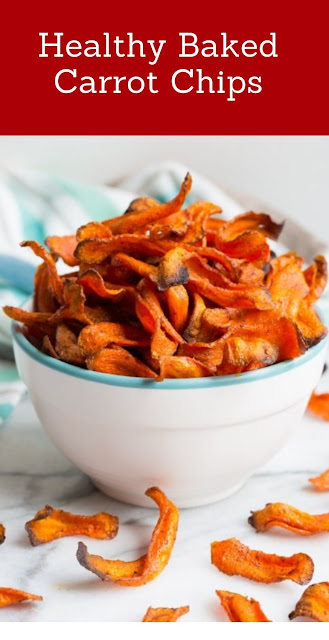 Healthy Baked Carrot Chips #healthyrecipes #Carrot