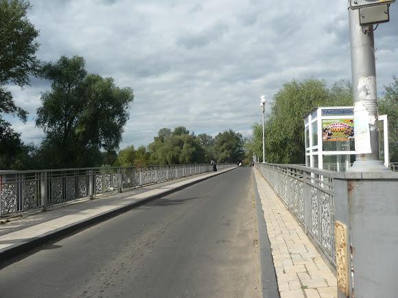 Святогірська Свято-Успенська Лавра. Міст через річку Сіверський Донець