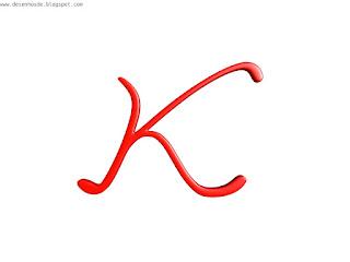 """Desenho em 3d da letra """"K"""""""