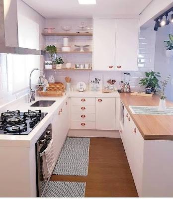 Desain dapur minimalis 2x2  memanjang