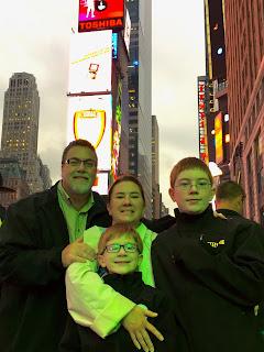David Brodosi and family in time square New York