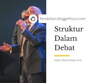 sebutkan struktur teks debat