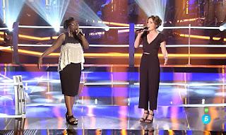 Deborah y Lucía batallas la voz equipo Melendi