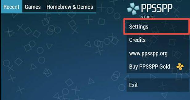Cara setting control di ppspp