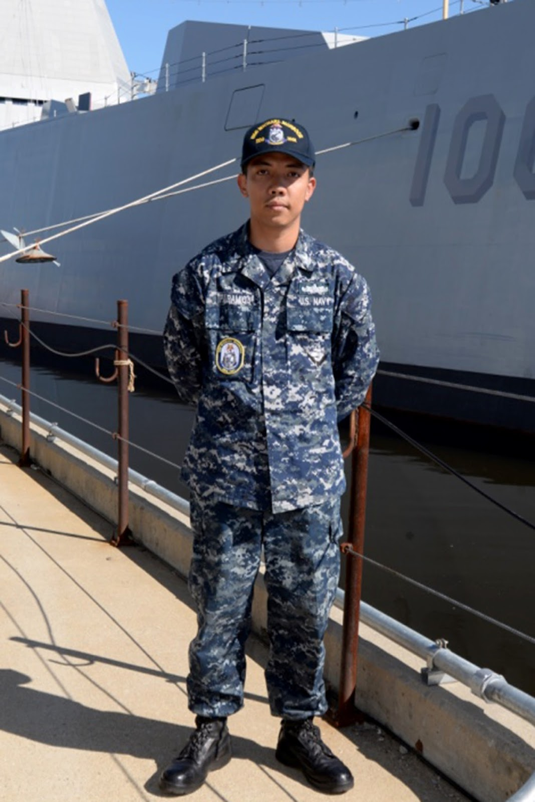 calasiao native serves aboard one of the u s navy s petty officer 1st class stanley paramio is a gas turbine systems technician electrical aboard the zumwalt class guided missile destroyer