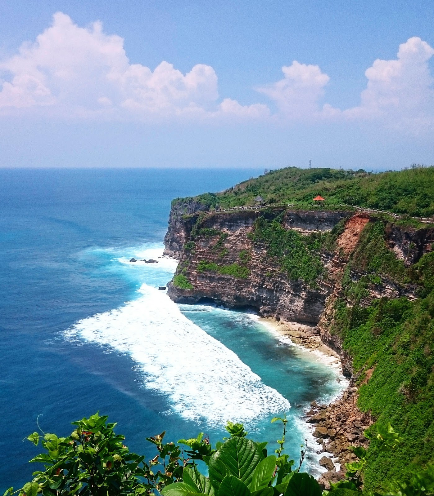 The view from Uluwatu Temple in Bali, Indonesia