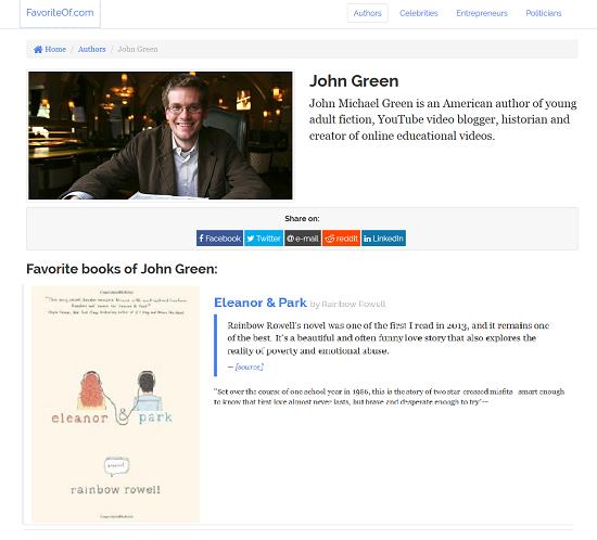 Favoritos John Green
