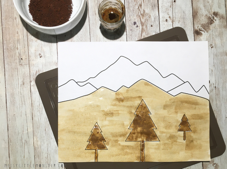 paint with coffee to learn value in art