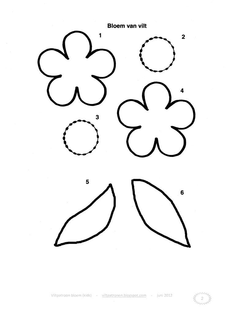 viltpatronen viltpatroon bloem
