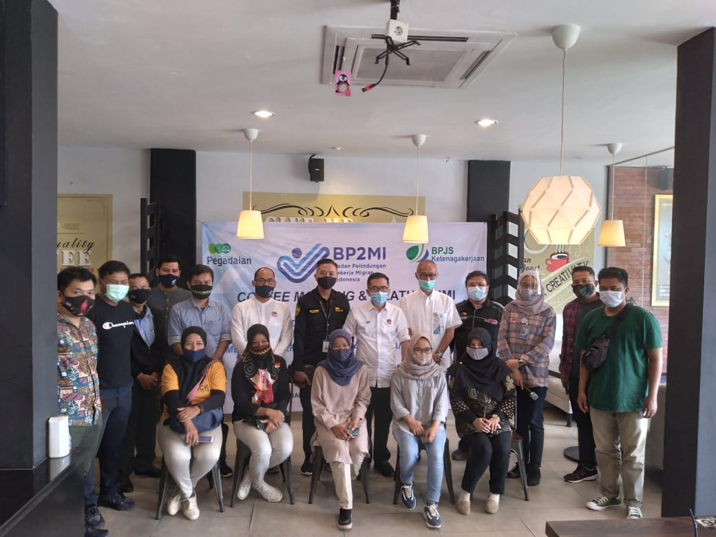 BP2MI bandar Lampung gelar coffee morning dan silaturahmi bersama awak media