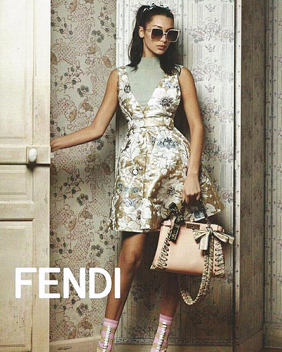 Bella Hadid Models for Karl Lagerfeld's Spring 2017 Fendi Campaign