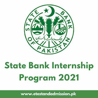 State Bank Internship Program 2021
