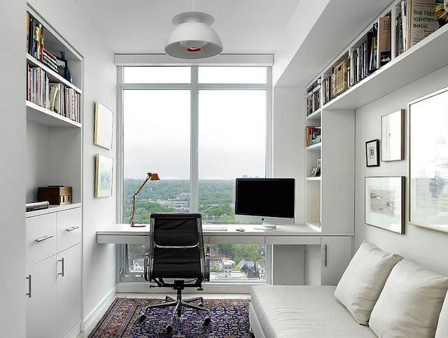 Desain ruang kerja sebenarnya tak cukup hanya mengedepankan keindahan. Faktor fingsional ruang kerja dan kenyamanan merupakan salah satu yang harus menjadi bahan pertimbangan saat mendesain ruang kerja. Sebab, dua faktor itu yang akan mendukung suasana kerja di ruang kerja anda.