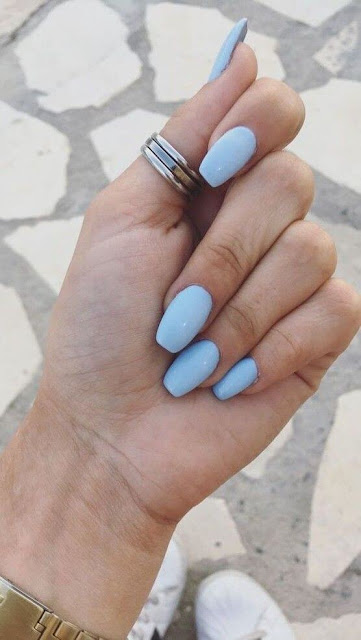 If you are searching for a nail art design with lots of sparkles stickers ✘ 26+ Pretty Baby Blue Nail Art Ideas With Rhinestones To Copy In 2020