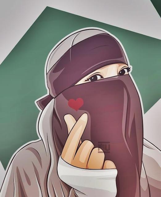 Gambar kartun muslimah bercadar