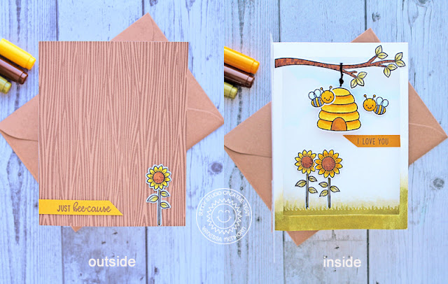 Sunny Studio Stamps: Just Bee-cause Fluffy Clouds Frilly Frame Dies Fancy Frame Dies Love You Card by Vanessa MenhornSunny Studio Stamps: Just Bee-cause Fluffy Clouds Frilly Frame Dies Fancy Frame Dies Love You Card by Vanessa Menhorn