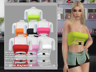 Buckle Top for The Sims 4