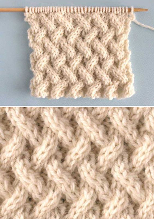 Lattice Cable Stitch - Free Knitting Pattern
