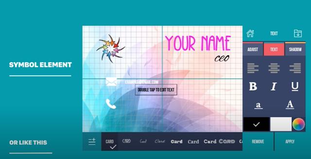 تحميل برنامج تصميم كروت شخصية عربي مجانا للاندرويد Business Card Maker & Creator