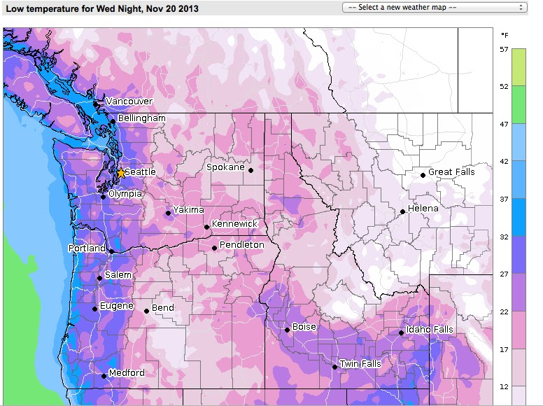 Boise Weather Map.Cliff Mass Weather And Climate Blog A Hard Freeze And Modified