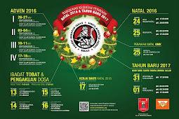 Jadwal Perayaan Natal 2016 & Tahun Baru 2017