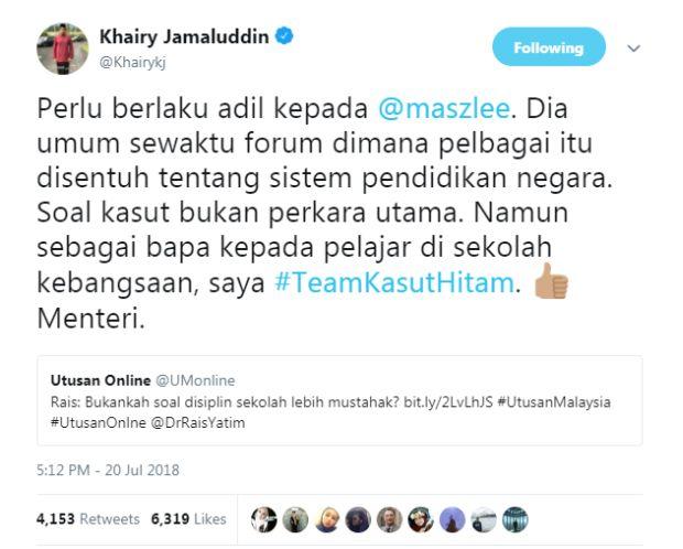 """""""Saya Tidak Setuju Kasut Hitam Ganti Kasut Putih!"""""""