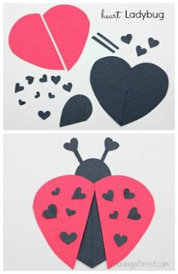 божья коровка из сердечек на валентина