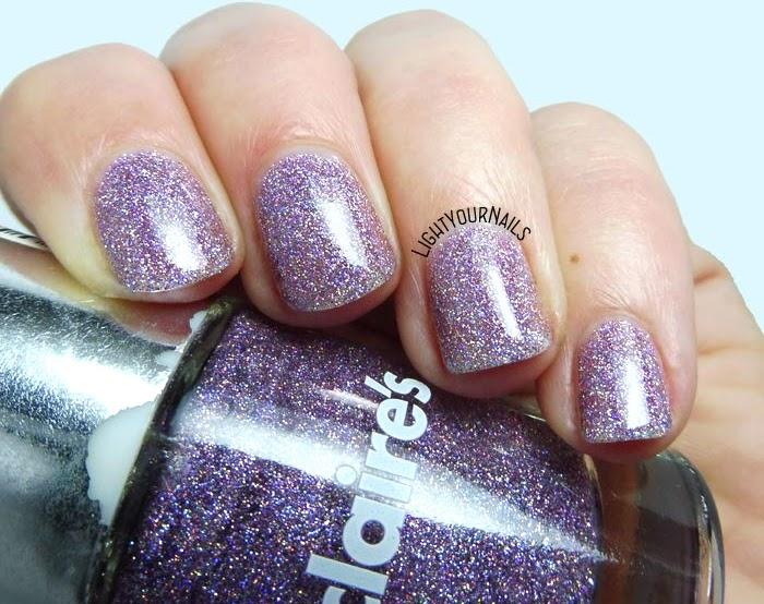 Smalto rosa glitter olografico Claire's Magical Unicorn pink holographic glitter nail polish