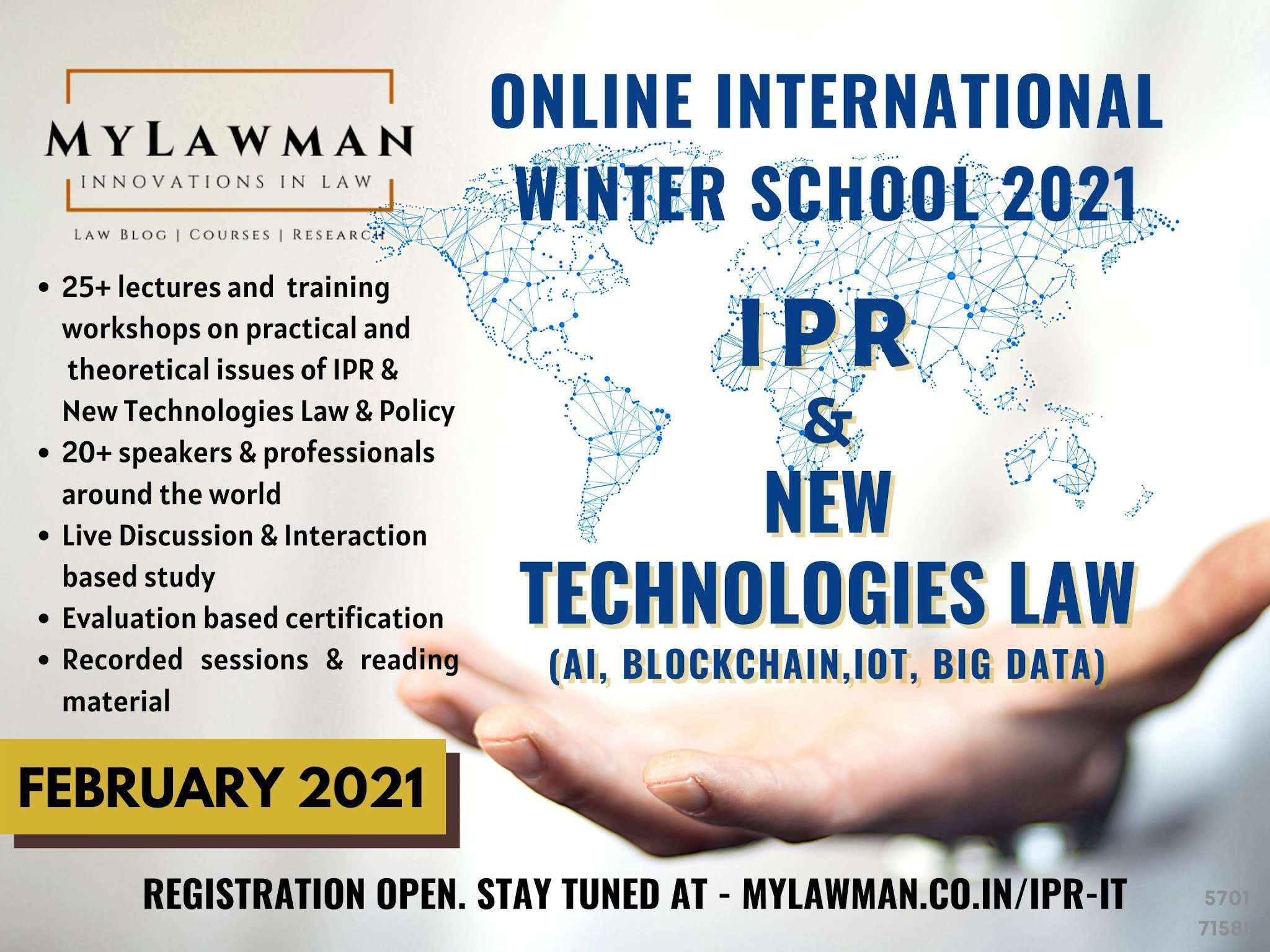 MyLawman Winter School on IPR and New Technologies