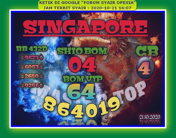Kode syair Singapore Rabu 21 Oktober 2020 77