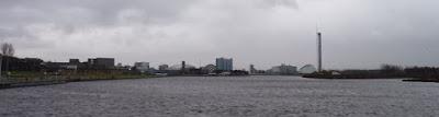 Glasgow desde el Riverside Museum.