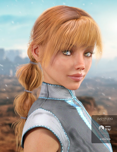EmJay Hair for Genesis 3 and 8 Female