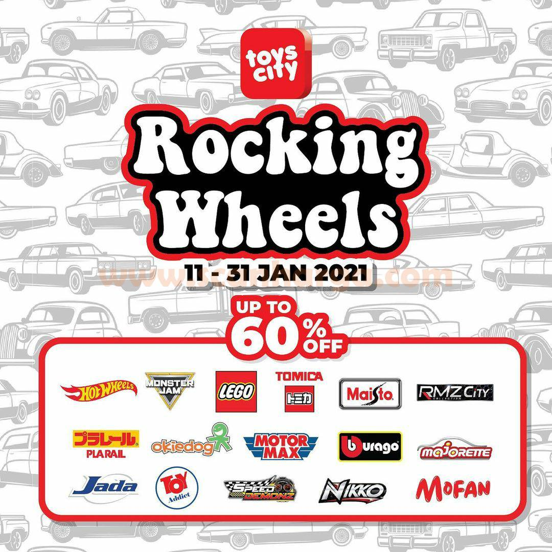 TOYS CITY Promo Rocking Wheels Discount up to 60% Off