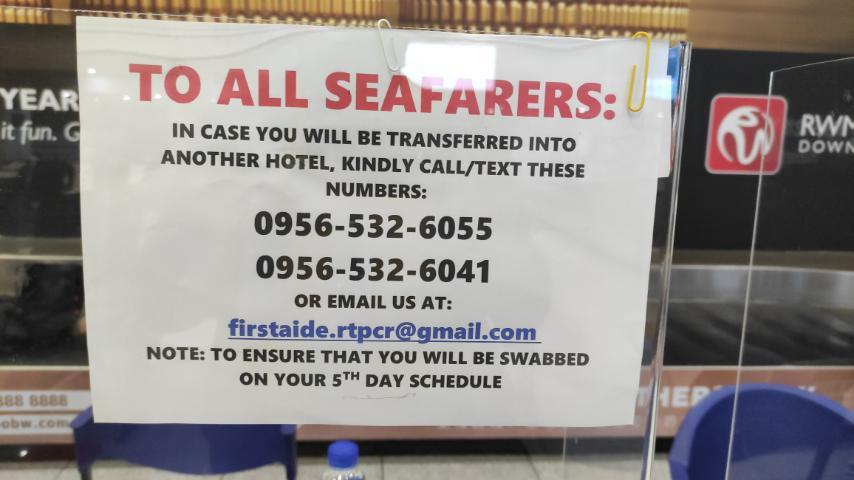FirstAide Diagnostics Advisory to seafarers