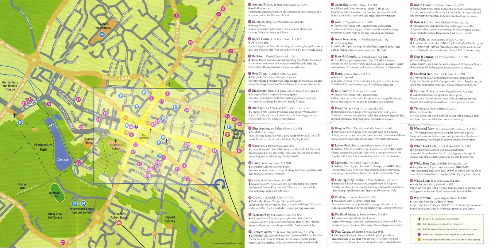 the guide provides an exhaustive listing of local pubs serving real ale and cider as well as information on the various types of beer and cider and the