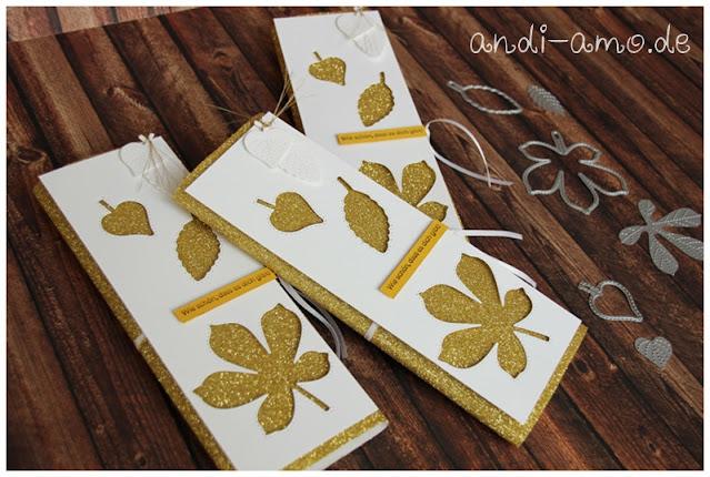Stampin Up Stanzformen Bestickte Blätter Verpackung