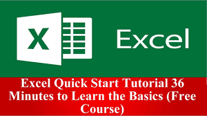 free Udemy course to learn Excel Basics for Programmers