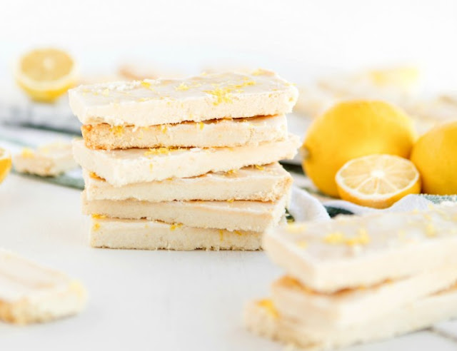 English Lemon Shortbread Strips #cookies #recipes