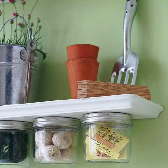 Mason Jar Storage Ideas