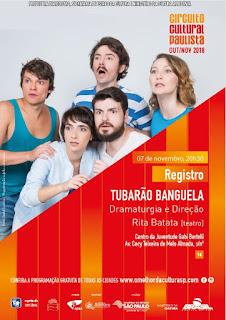 """Circuito Cultural Paulista traz para Registro-SP a comédia """"Tubarão Banguela"""", dia 07/11"""