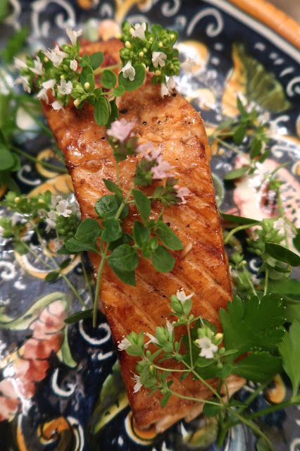 Grilled Maple Salmon with Tamari & Sesame Oil