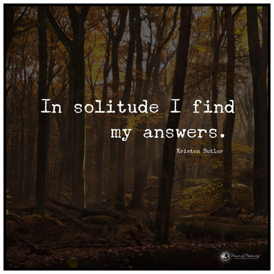 Quotes On Solitude Unique In Solitude I Find My Answers Kristen Butler Quote.