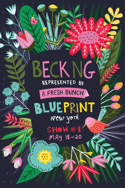 Print pattern blueprint 2017 a fresh bunch find a fresh bunch at this years blueprint show a fresh bunch works with hand picked design talent from around the globe to design artwork for apparel malvernweather Images