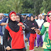 Galakkan Germas Bupati Lampung Timur Ikut Senam Bersama Masyarakat Jabung
