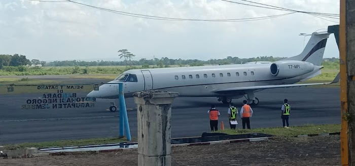 Kapolres Jember Tinjau Kesiapan Parade Garuda Terbang di Bandara Notohadinegoro